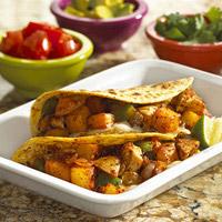 Chicken Verde Potato Tacos: Main Image