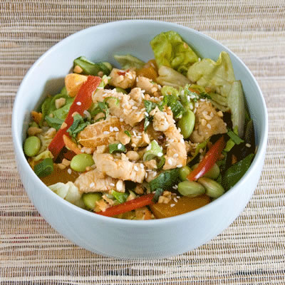 Mandarin Chicken Salad with a Sweet-and-Sour Vinaigrette: Main Image